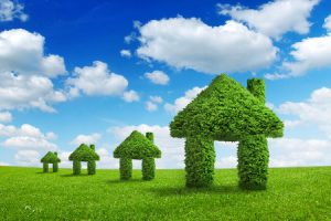 Houses built with green benefits helping the environment