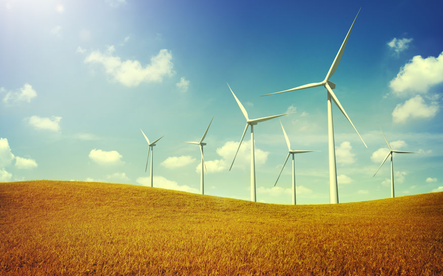 Wind Turbines 100% renewable energy